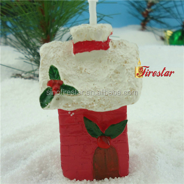 cheap and high quality santa house candles for christmas in bulk