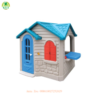 China guangzhou cheap kids outdoor playhouse for sale cute children toy house outdoor playhouse for kindergarten QX-158E