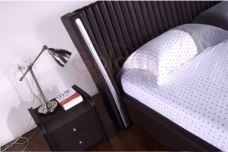 MIFF top selling leather furniture wood double bed designs. Miff Top Selling Leather Furniture Wood Double Bed Designs   Buy
