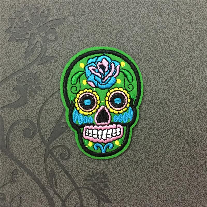 Aliexpress.com : Buy Green Sugar skull Punk Skull Patches ...