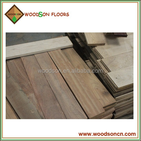 big stock of unfinished solid jatoba wooden flooring
