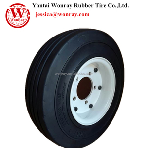4.00x8 rubber solid tire installation 3.75-8.00 rim wheel mounted assembly