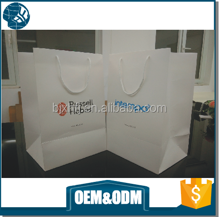 custom new product lady hair extension packaging art paper packaging bag for shopping
