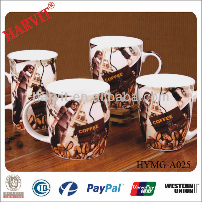 Ceramic Novelty Funny Cups And Mugs Personalized With Coasters