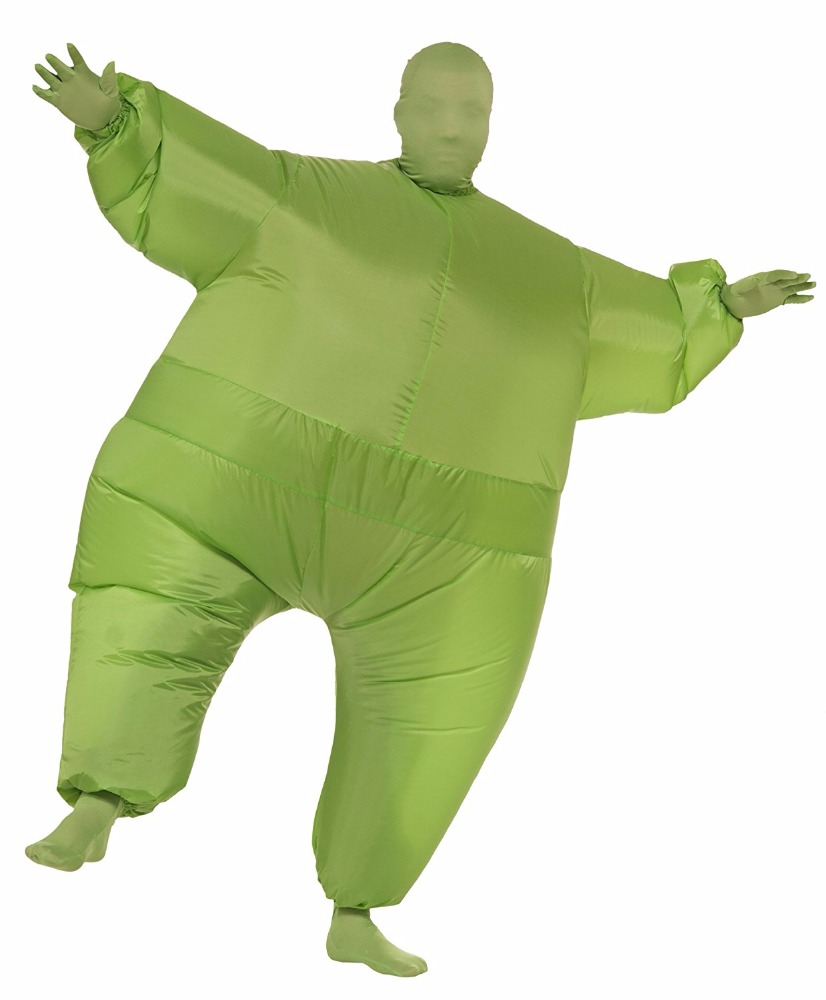 Funny Inflatable Pure Color Costume for Halloween, Carnival and Party