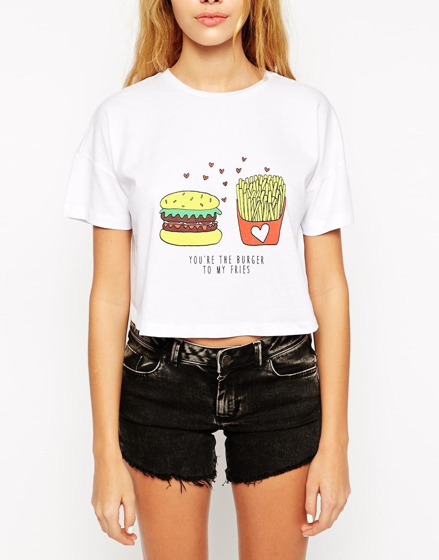 Divertente Fritte Buy Stampato Patatine E Shirt T Hamburger Stampa MSzGqpUV