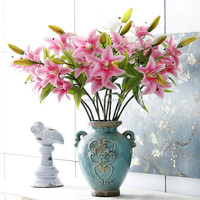 Natural Touch Lily Home Wedding Table Hotel Decoration Yiwu Wholesale Fake Flowers
