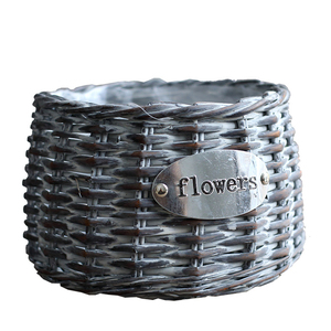 YRMT hot selling  round flower pot wicker flower pot with low price