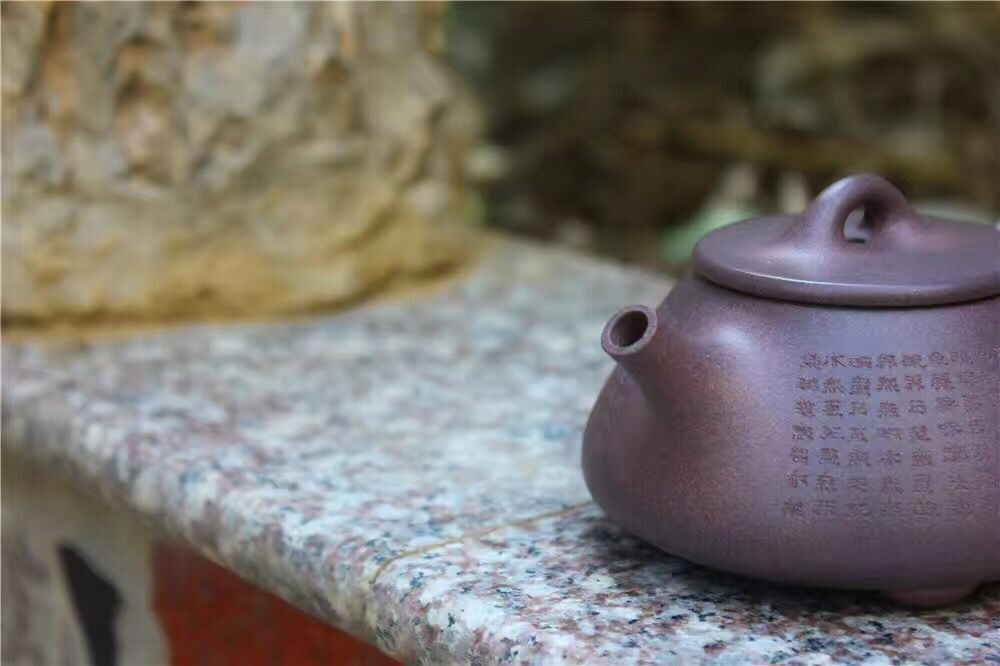 200cc middle volume and unique purple clay teapot sale to the New Zealand market
