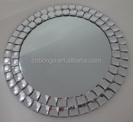 Sin marco redondo cuentas de acrilico espejo de pared para for Precio de espejos sin marco