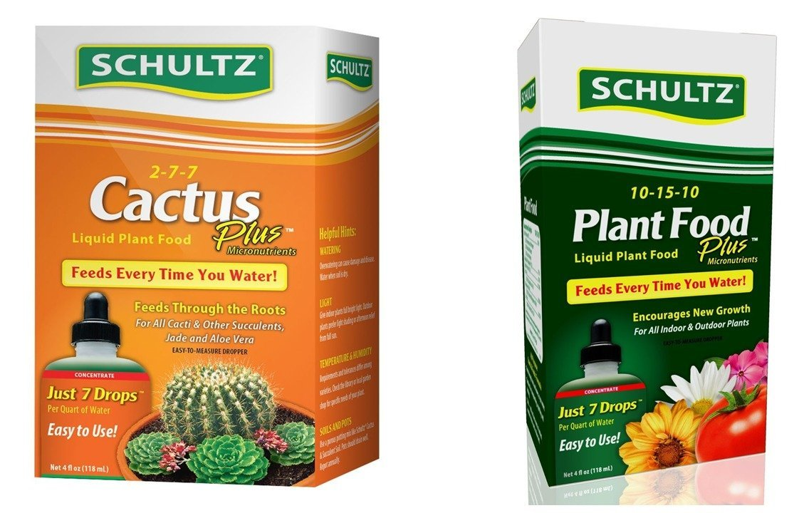 Schultz Cactus and All Purpose Liquid Plant Food Gardening Kit: 2 Items - 4 ounces each.