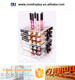 rotating acrylic lip gloss tube display holder spinning lipstick organizer