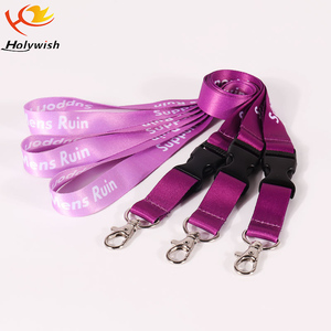 Cheapest Promotional Customized Corporate Colorful Christmas Polyester Lanyards