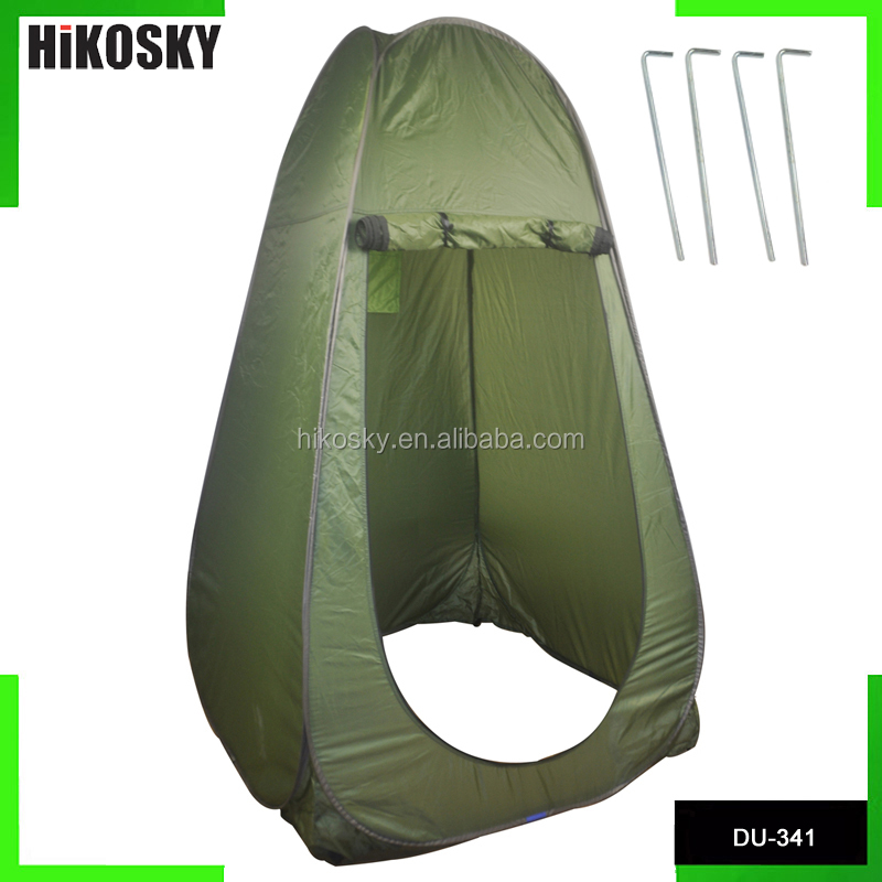 HIKOSKY Outdoor Portable Pop Up Camping Beach Toilet Dressing Changing Room Tent Green