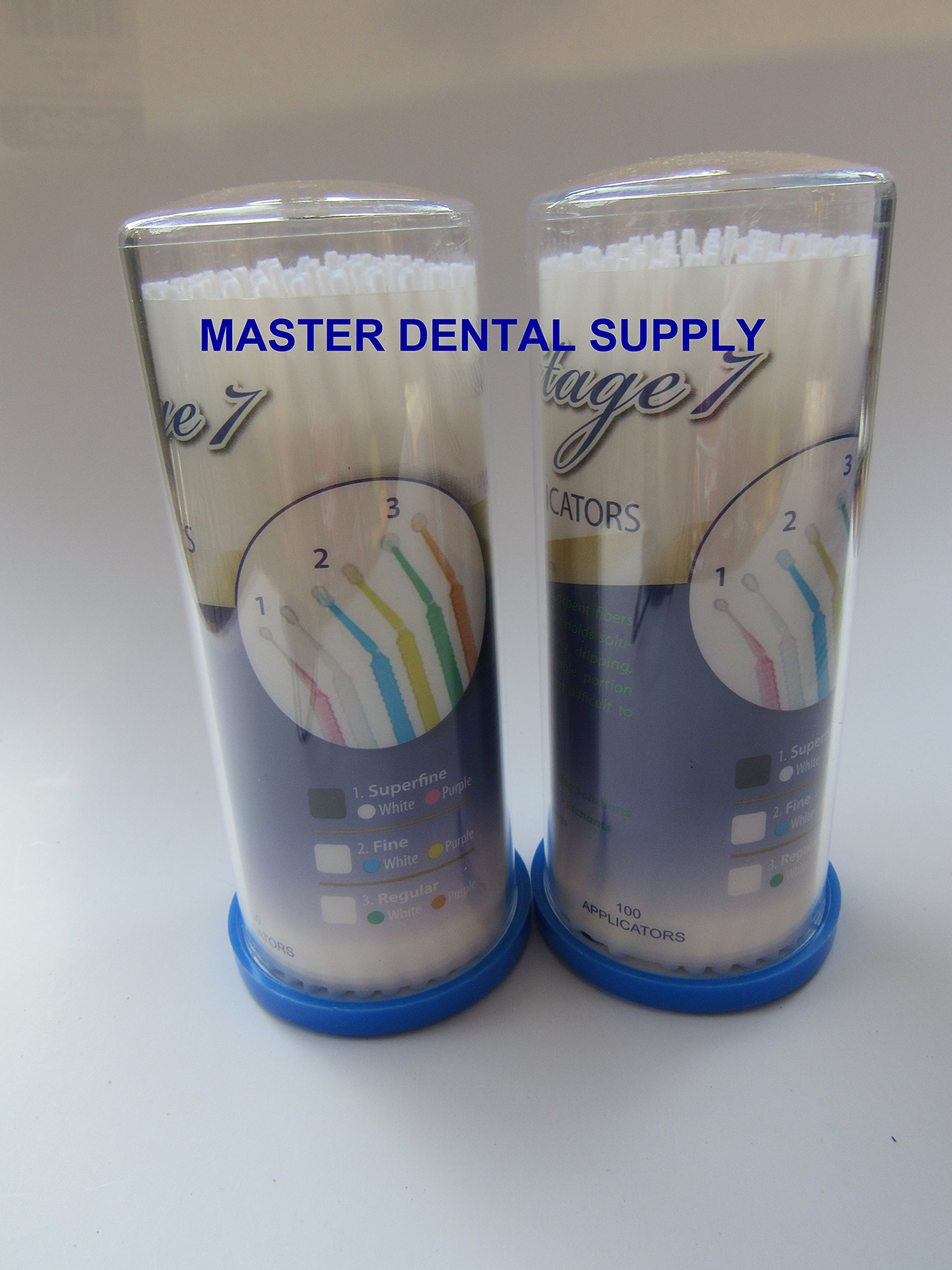 200 Dental Micro Applicator (2 x 100 Pcs/Tube) EXTRA FINE Small (0.1 mm) WHITE Disposable
