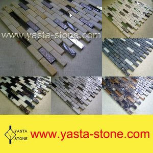 Stone Glass Tile Backsplash