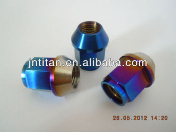 Gr5 titanium lug nut car