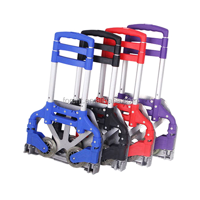 hot sale aluminum folding heavy duty foldable 2 wheels hand trolley