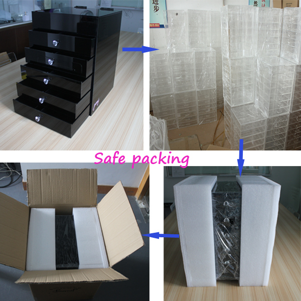 Shopping Clear Cube Drawer Acrylic Jewelry Makeup Cosmetic