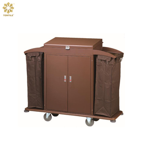 Hotel room cleaning service trolley housekeeping hotel trolley room service cart