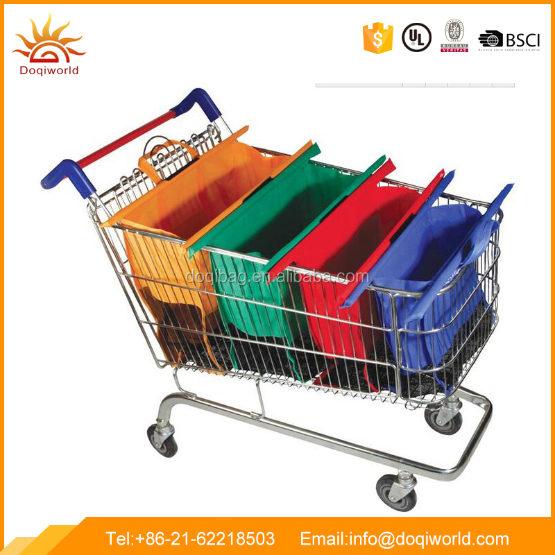 Sell fast shopping cart bag 4pcs in one set with non-woven material