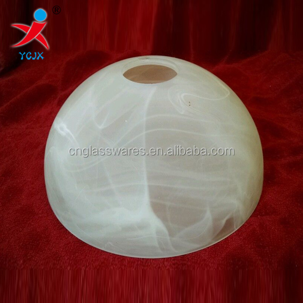 Bowl shaped glass lamp shade with alabaster appearance buy bowl bowl shaped glass lamp shade with alabaster appearance aloadofball Images