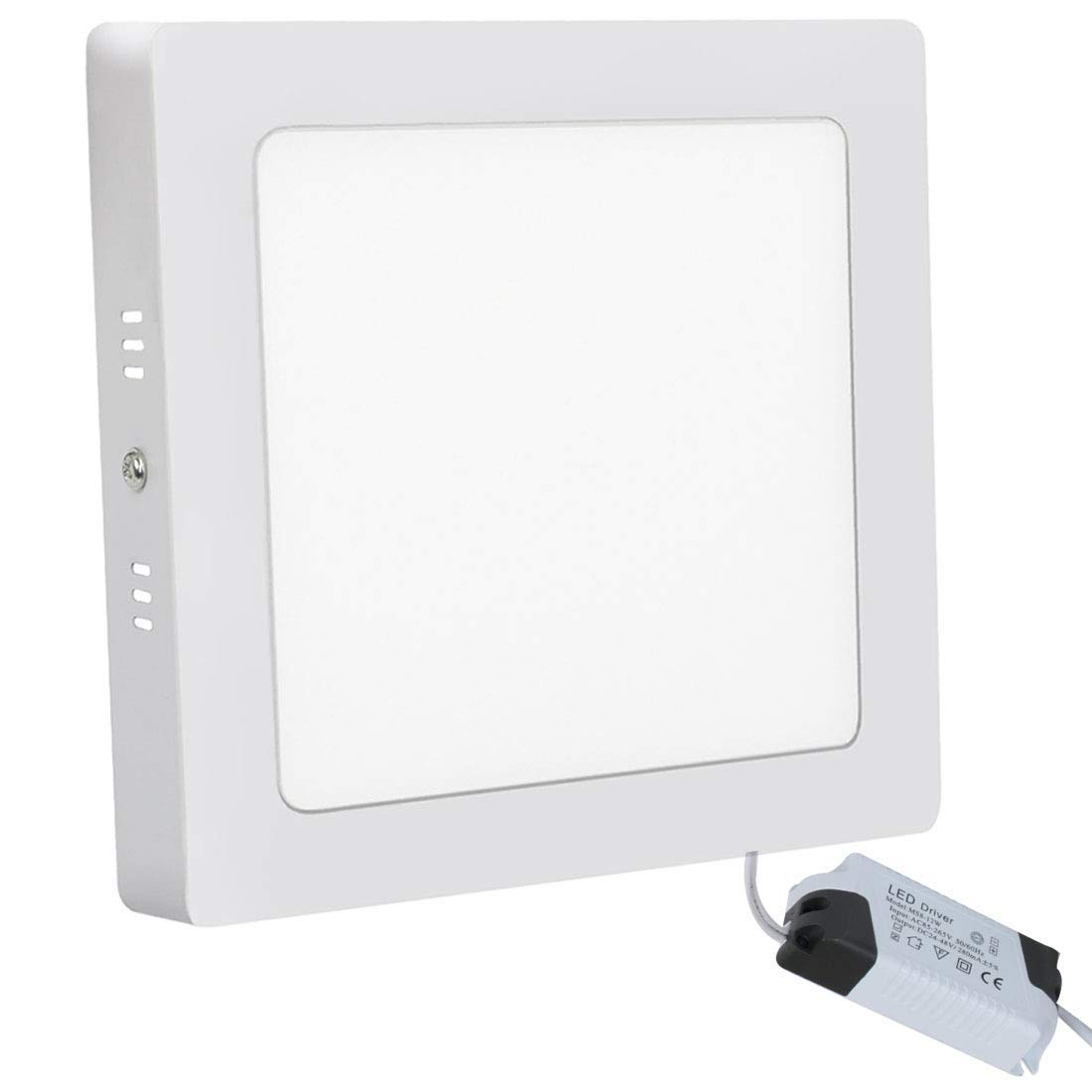 12W LED Ceiling Panel Light Wall Ceiling Down Lights Square Lamp for Living Room Bathroom Kitchen Corridor Conference Room Energy Saving 3000K 720LM Warm White