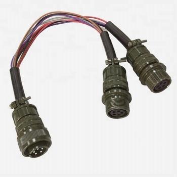 ip68 waterproof shielded outdoor cable field installable 5 pin y splitter  wiring male to female screw