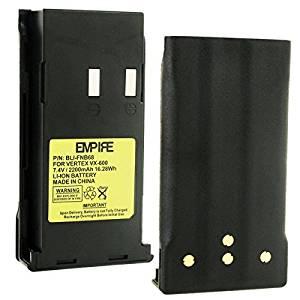 Vertex FNB-69A 2-Way Radio Battery (Li-Ion 7.4V 2200mAh) - Replacement for YAESU/Vertex FNB68LI Two-Way Radio Battery