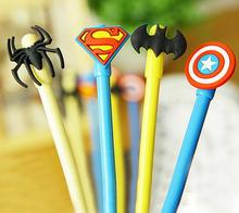 diy creative stationery kids gifts personalized Novelty gel pen with cute cartoon batman spider superman captain amerian cap