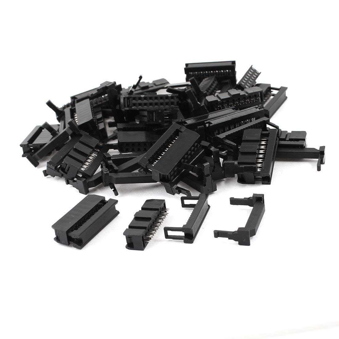 uxcell 25 Pcs FC-16P 2x8 Pin Female Header IDC Cable Connector 2.54mm Pitch