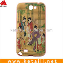 Customize TPU Water imprint Mobile phone covering for samsung note 2 N7100