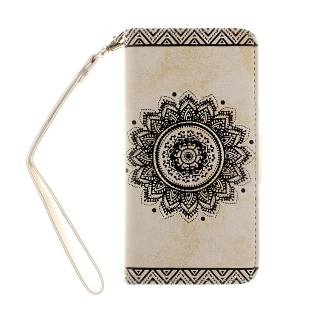 mobile phone flip case mandala pattern printed flower pu leather wallet printed flip wallet case for samsung galaxy S7 s7 edge