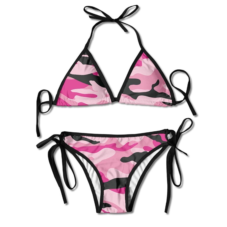 e14c2e310ce75 Get Quotations · Pink Camouflage Two Piece Sexy Bikini Swimsuit For Women  Bikini Bathing Suit