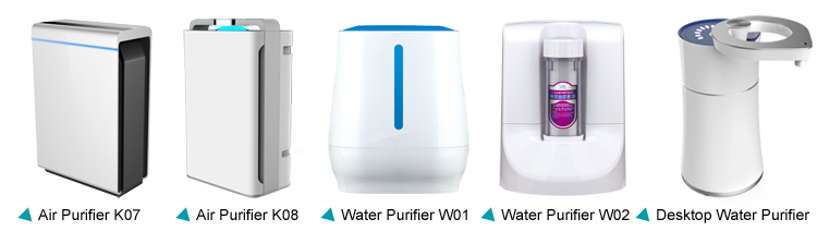 PM10 smart WIFI air purifier PM2.5 UV light Activated Carbon Filter humidification vacuum cleaner