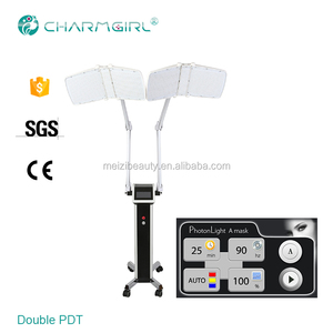 4 colors PDT/led light therapy lamp for facial with double handles device