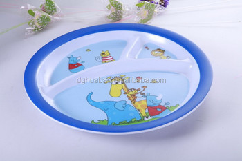 3 compartment melamine plate with custom printing for kids & 3 Compartment Melamine Plate With Custom Printing For Kids - Buy 3 ...