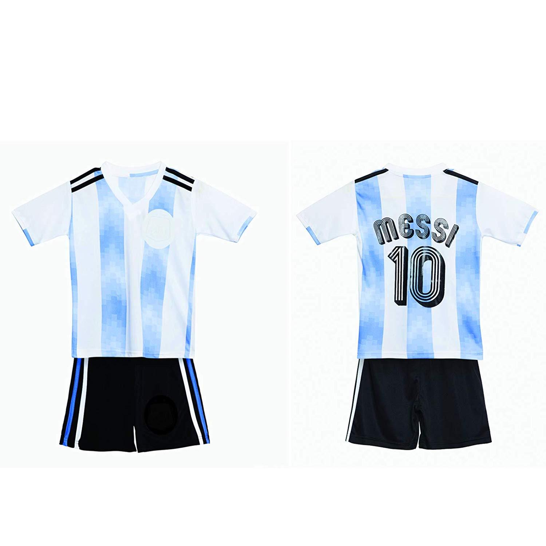 0b7e23033 Get Quotations · Sportigoo Kids Argentina Soccer Jersey Set - 2018 19