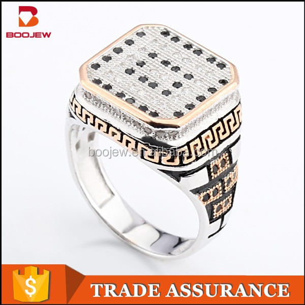 China supplier wholesale high quality sterling silver 925 fashion jewelry man made diamond rings from