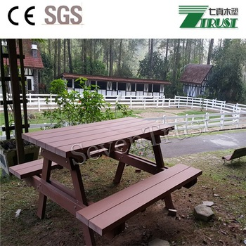 Garden furniture luxury look WPC chairs benches