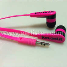 flat cable earphone for mp3