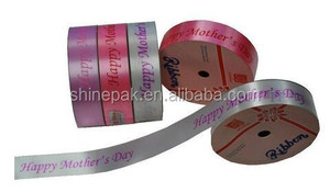 factory hot sale happy mother's day printed curling ribbon