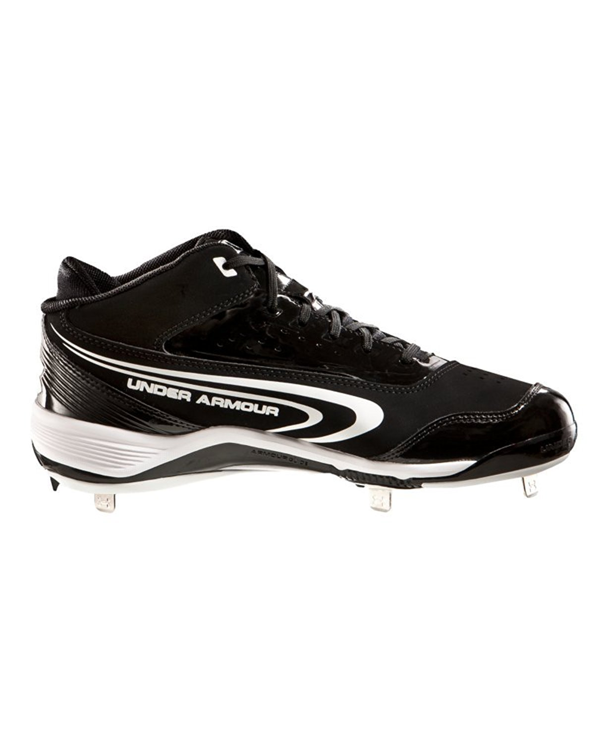 huge discount d2a92 ea471 Get Quotations · Men s UA Ignite III Mid-Cut Metal Baseball Cleats