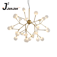 Contemporary acrylic circle firefly pendant light lamp indoor led lighting modern Chandelier decorative lights lighting