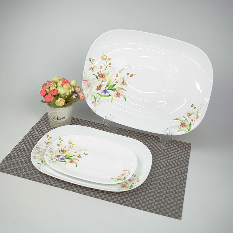 luxury factory price casual  dinnerware rectangular dinnerware sets