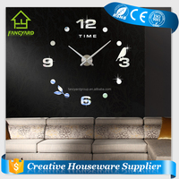 FY1001-06 Quartz Wall Clock/ DIY Large 3D Wholesale Luxury Wall Clock