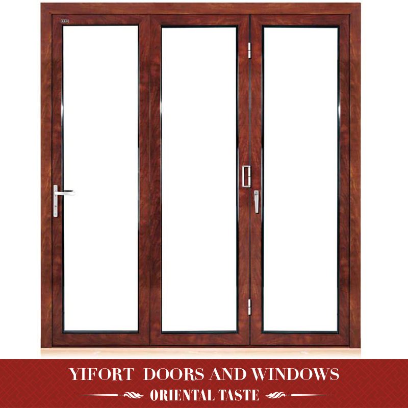2018 cheap aluminum 3 panel french doors made in china