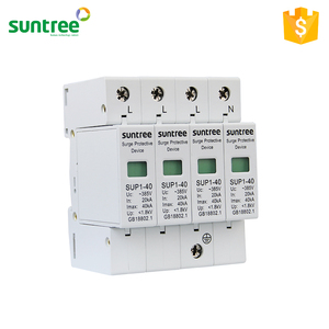 TUV SAA Approved Lightning Arrester 4 Pole SPD 40kA Surge Protection Device AC Type Price