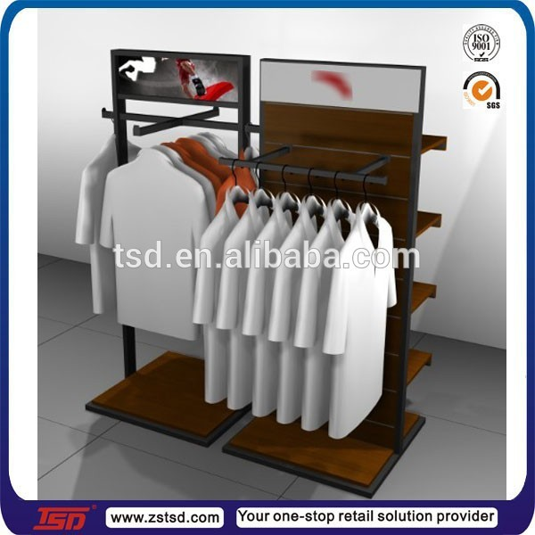 clothing stands displays