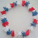 Colorful luau hawaiian flower leis set Christmas Hawaii Flower Lei Luau lei